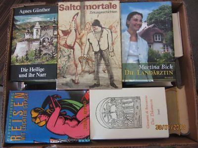 45 Bücher Hardcover Romane Sachbücher verschiedene Themen