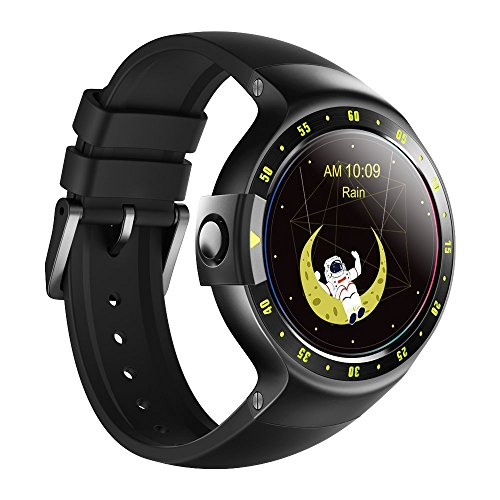 Ticwatch S Knight Smart Watch, 1,4 Zoll OLED Display, Android Wear 2,0, kompatibel mit iOS und Android, Google Assistant