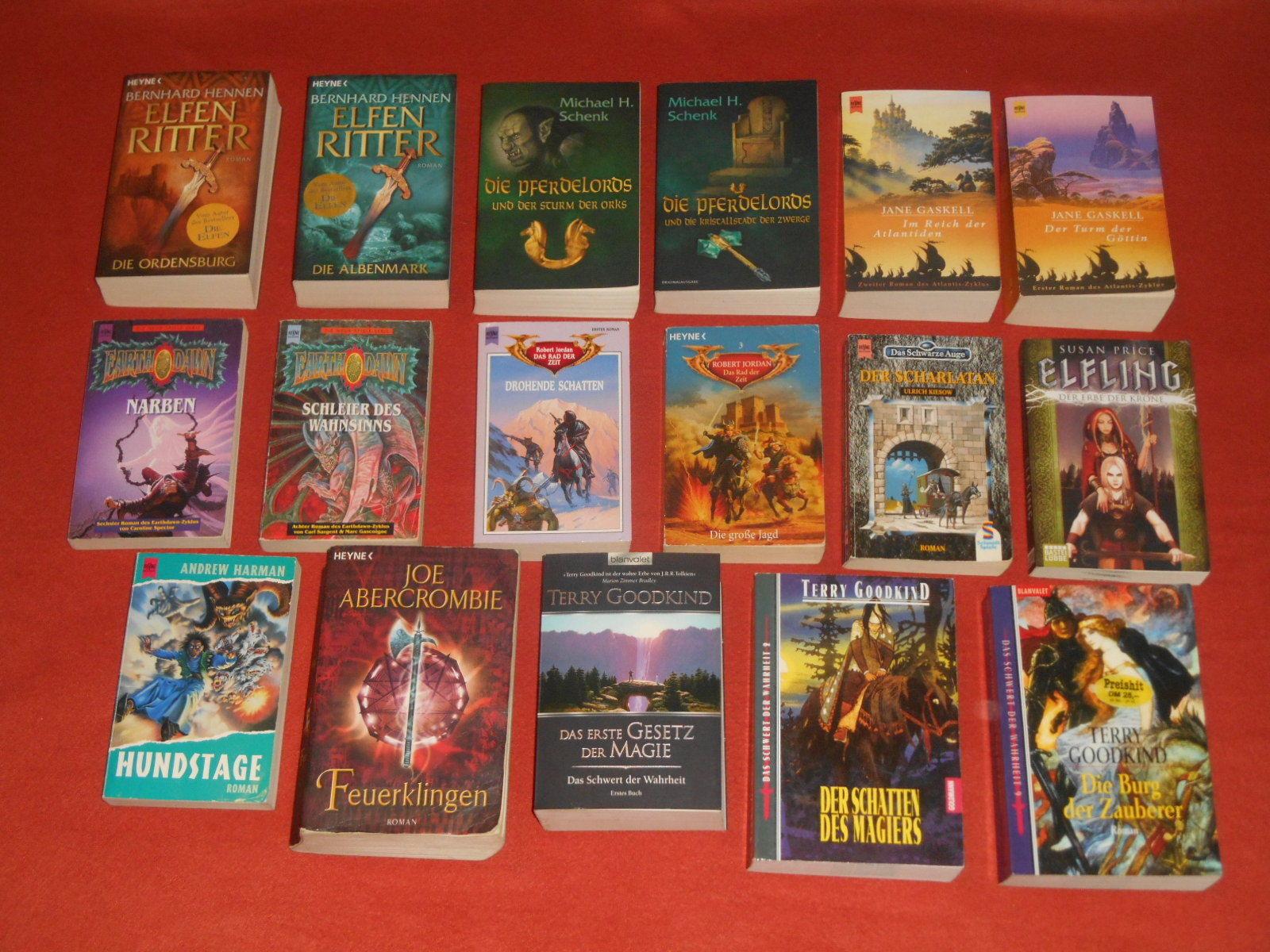 Bücherpaket, tolles Fantasy Bücherpaket, 17 TB
