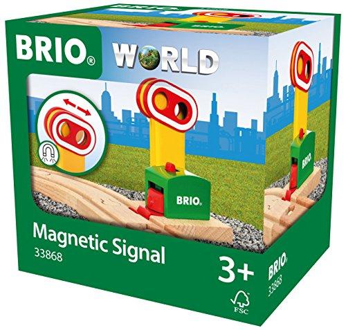 BRIO World 33868 - Magnetische Bahn-Ampel
