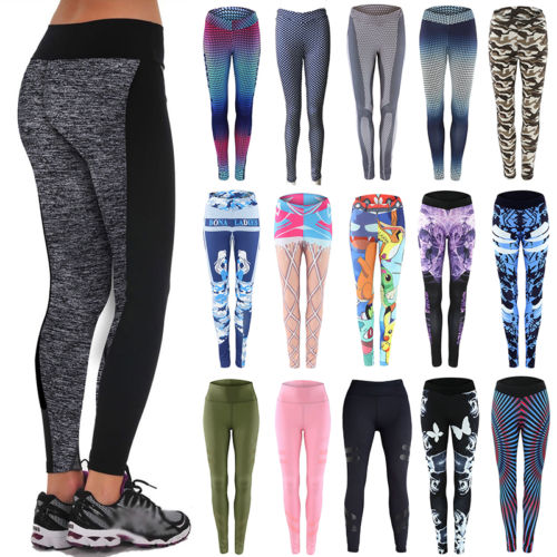 Damen Leggins Leggings Sport Hose Yoga Gym Jogging Slim Stretch Fitness Laufhose