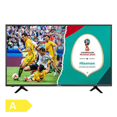 Hisense H50NEC5205 50 Zoll 126cm 4K Ultra HD Fernseher Smart TV schwarz DVB-T2