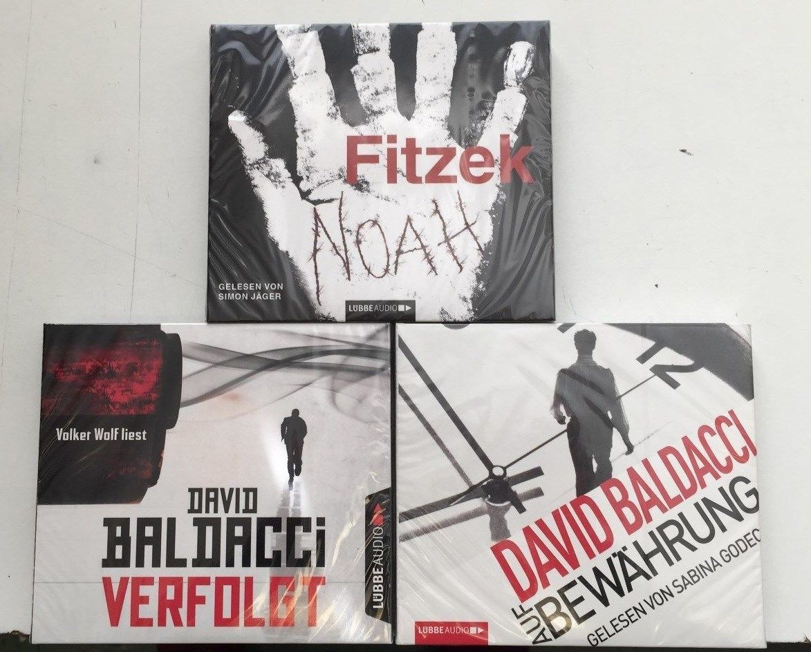 XXL HÖRBUCH-PAKET | 3 x Baldacci/ Fitzek  Thriller Hörbücher zum Hammerpreis !