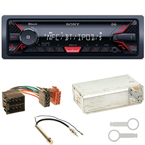 SONY DSX-A400BT Autoradio USB Bluetooth AUX 1-DIN Einbauset für Seat Ibiza 6L Arosa Cordoba