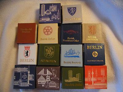 DDR Minibuchpaket Konvolut 10 verschiedene Bezirke der DDR