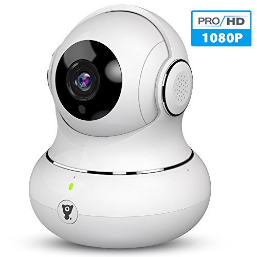 Littlelf 1080P HD Überwachungskamera WLAN IP Kamera, 3D Panorama Home WiFi kamera mit 350°/105°Schwenkbar, Haustier und Baby Monitor mit Bewegungserkennung, 2-Wege Audio, Nachtsicht, unterstützt Fernalarm