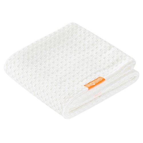 Aquis - Waffle Luxe Haartrockentuch, hoch saugfähiges und schnell trocknendes Handtuch aus Mikrofaserstoff für alle Haartypen, elfenbeinfarben (48,3x 106,7cm)