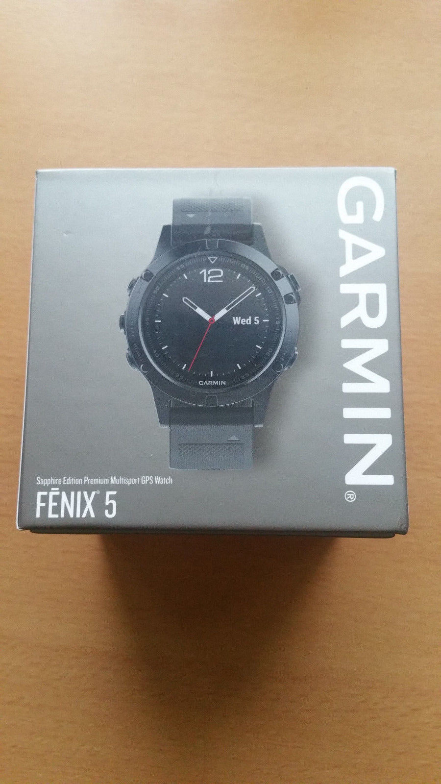 Garmin Fenix 5 Schwarz Sapphire Edition NEU!!!!