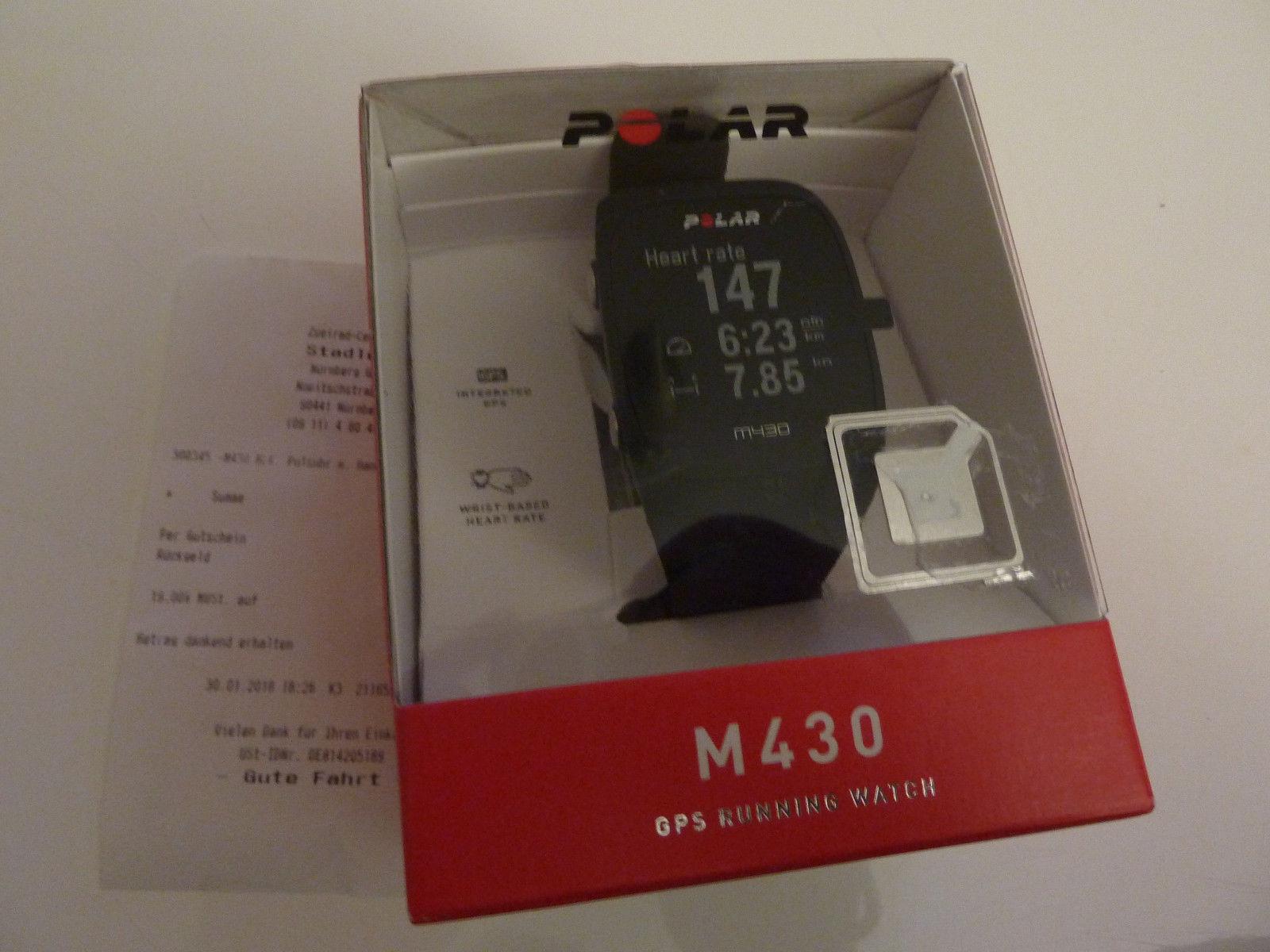 Polar M430 GPS-Laufuhr Pulsuhr schwarz NEU OVP volle Garantiezeit