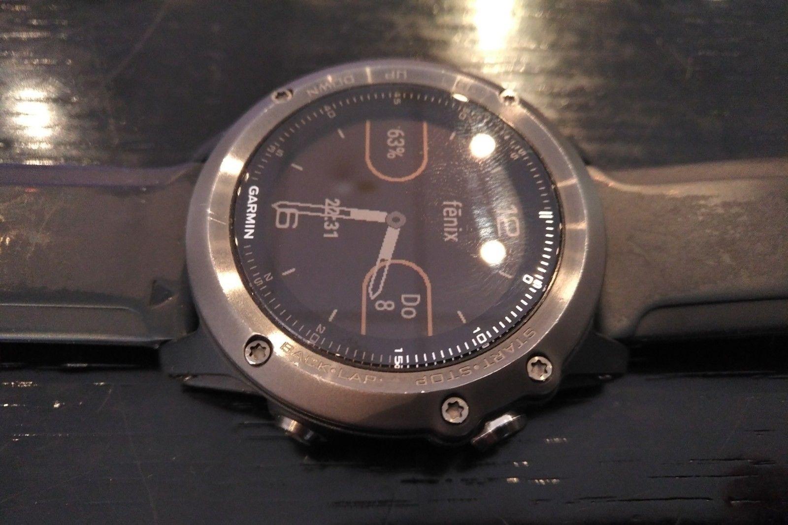 Garmin Fenix 3 HR GPS Multisport Uhr - Saphir GRAU - SPORTUHR - OVP
