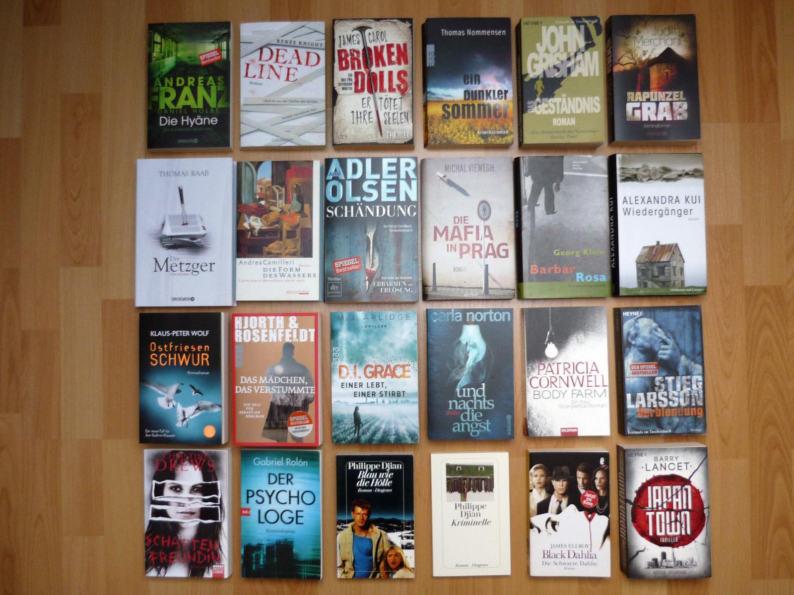 Krimipaket 24 x Krimi Thriller Bestseller Adler-Olsen Hjorth/Rosenfeldt Cornwell