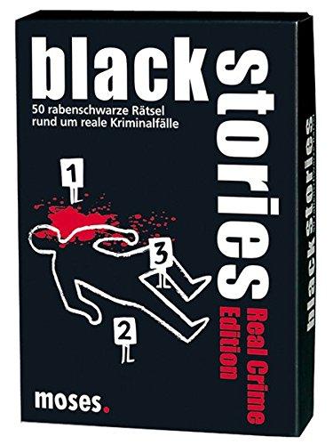 Moses black stories Real Crime Edition, 50 rabenschwarze Rätsel, Das Krimi Kartenspiel