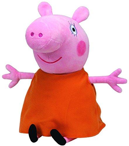 TY 96232 - Peppa - Mamma Wutz, Schwein im orangen Kleid, groß, 25 cm
