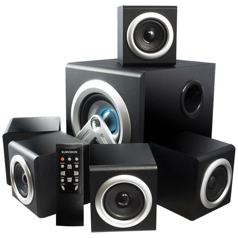 Sumvision V-cube 5.1 SURROUND SOUND HOME THEATRE Speakers System - 28W RMS