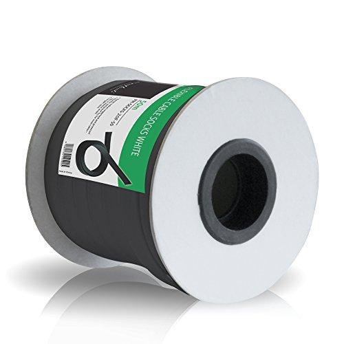 PureMounts PM-SOCKS-20B-50 Universeller Polyester-Kabelschlauch, selbst zusammenziehend  mit Klettverschluss, Ø 20mm, Rolle 50m, schwarz