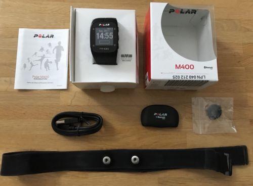 Polar M400 GPS-Laufuhr Schwarz, Herzfrequenz-Sensoren in OVP