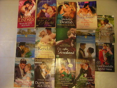 14  Historische  Liebesromane: 8 x Historical; Johanna Lindsay, Linsay Sands..