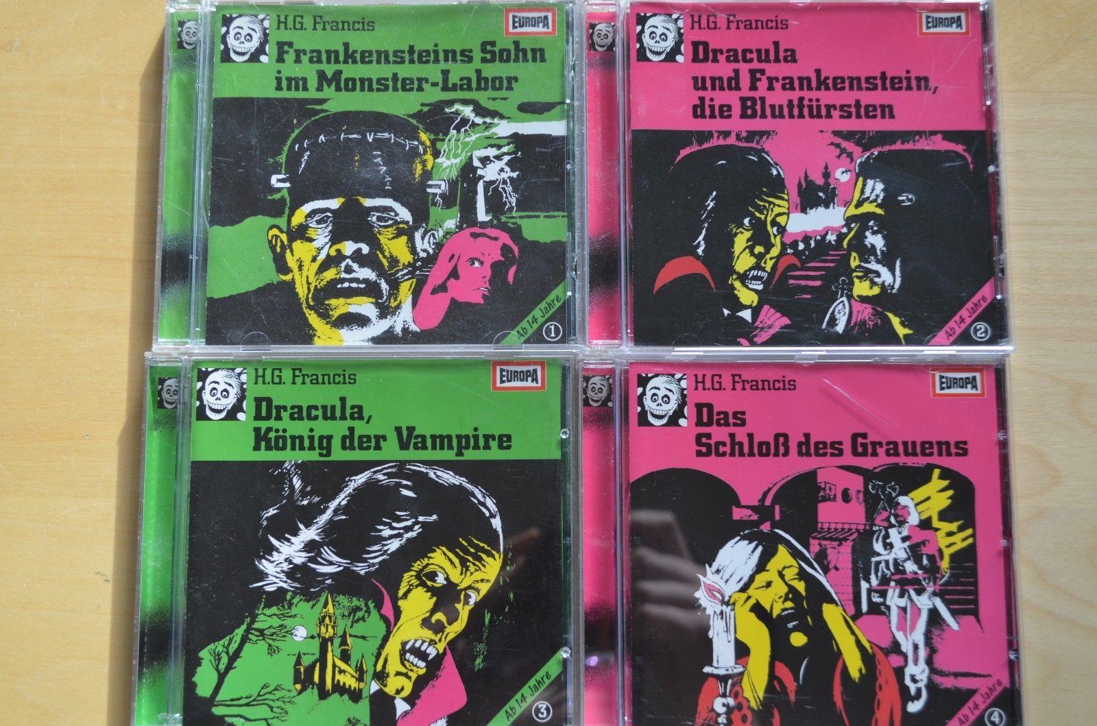 Europa Grusel Neon Hörspiel Sammlung , 4 Cd´s von H.G. Francis