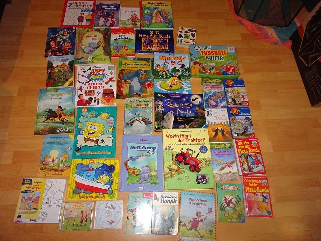 Kinder Bücherpaket, Bücher, lernen, Spaß! Spongebob, Winnie Puuh, 3D,...