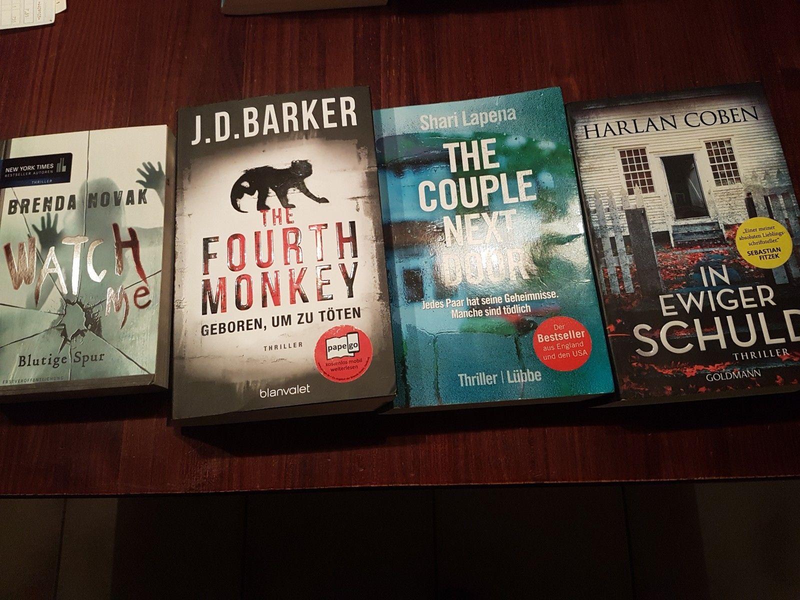 Bücherpaket Bücher Taschenbücher Krimis Psycho Thriller 4 Stück