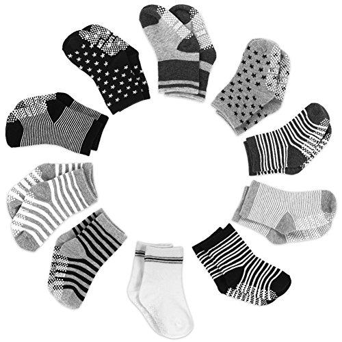 Baby Socken, Yissvic Anti Rutsch Babysocken 10 Paar Anti Slip Stretch Socken für 0-3 Jahre Baby Mädchen und Jungen