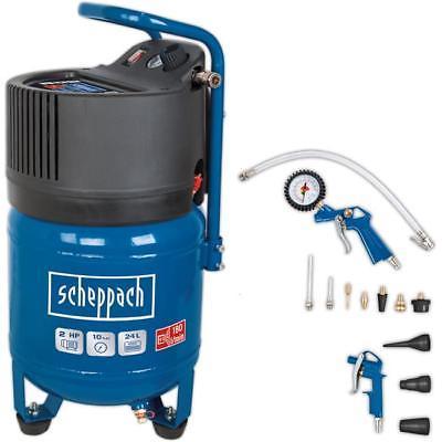 Scheppach Kompressor HC24V ölfrei + 13tlg. Druckluft-Set