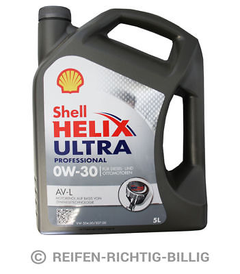 Motoröl Shell Helix Ultra Professional AV-L VW 0W-30  5 Liter 5L