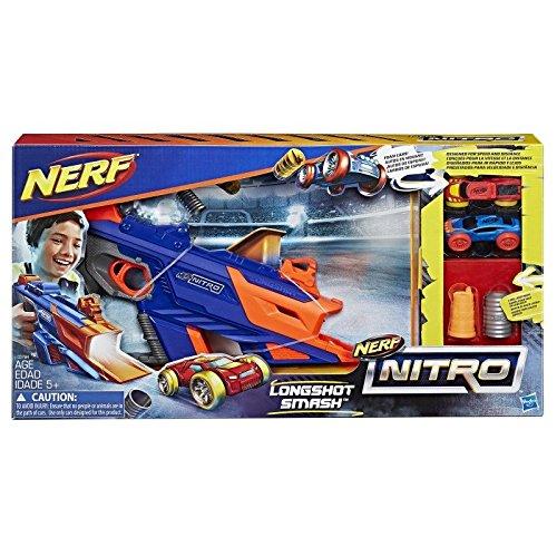 Hasbro Nerf Nitro C0784EU4 - LongShot Smash, Fahrzeugblasterset