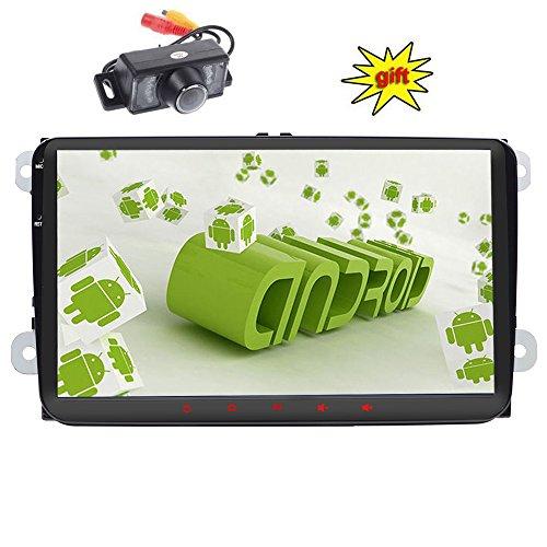 Doppel DIN GPS Auto-Stereo 22,9cm Stick, kapazitiver Touchscreen aandorid 6.0System Auto Video Player in Dash GPS Navigation USB FM AM RDS Autoradio Bluetooth Haupteinheit für VW Golf 56Polo Jetta Touran Eos Passat CC Tiguan Sharan Scirocco Caddy + CA