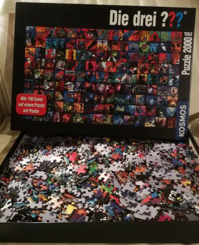 Die drei Fragezeichen ??? Dr3i Cover Collage 150 Cover Puzzle 2000, rar, selten