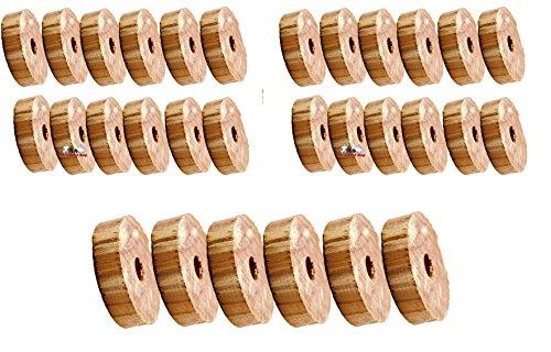 30 Stück Mottenschutz aus Zedernholz,Mottenringe Mottenschutz Bügelringe gegen Motten von all-around24 (30 St.)