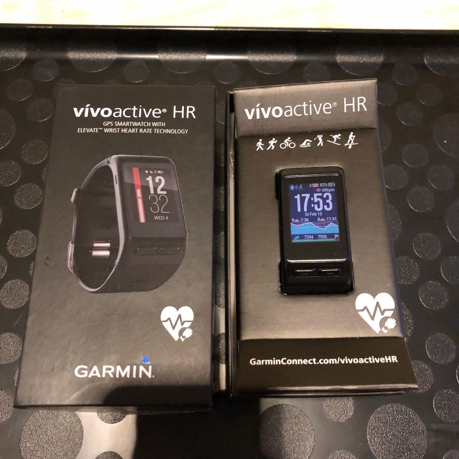 Garmin Vivoactive HR XL Fitness Tracker Smartwatch GPS Sport Uhr schwarz