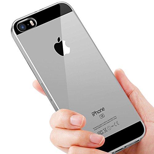 iPhone SE Silikon Hülle, Ubegood Liquid Crystal Handyhülle iPhone SE Bumper Case Kratzfeste Stoßfest Flexible TPU Case Passgenaues Schutzhülle für iPhone SE/5/5S Case Cover - Clear