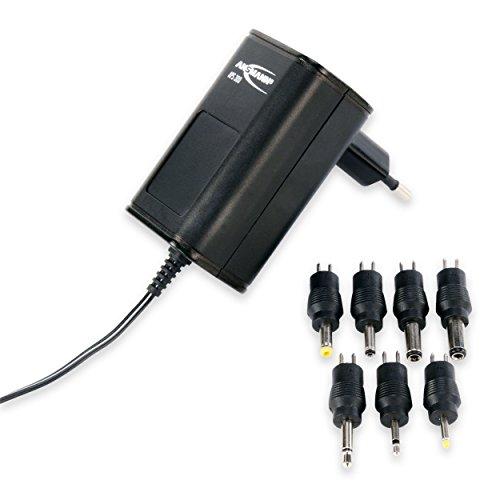 ANSMANN APS 300 Universal Stecker Netzteil zur Stromversorgung vieler Elektrokleingeräte von 3-12 Volt / Weltweit einsetzbares Universal Netzteil mit 7 verschiedenen Adaptersteckern bis max. 300mA
