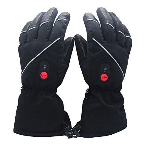 Savior beheizte Handschuhe mit wiederaufladbare Lithium-Ionen-Batterie Beheizt für Männer und Frauen, warme Handschuhe für das Radfahren, Motorrad, Wandern Skitouren, arbeitet bis zu 2,5--6 Stunden
