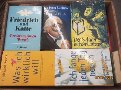 44 Bücher Hardcover Romane Sachbücher verschiedene Themen Paket 2