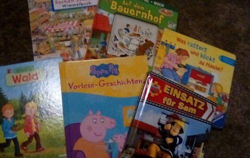 Kinderbücher sammlung, Wimmelbuch, was ist was? Feuerwehr Sam, Peppa wutz,Spiel