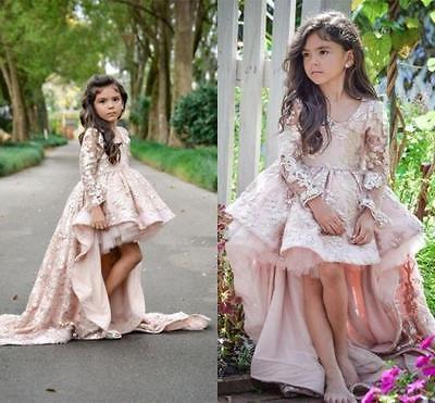 2017 Blumenmädchen Kinder Kleid Prinzessin Kommunion Mädchen Festzug Ballkleider