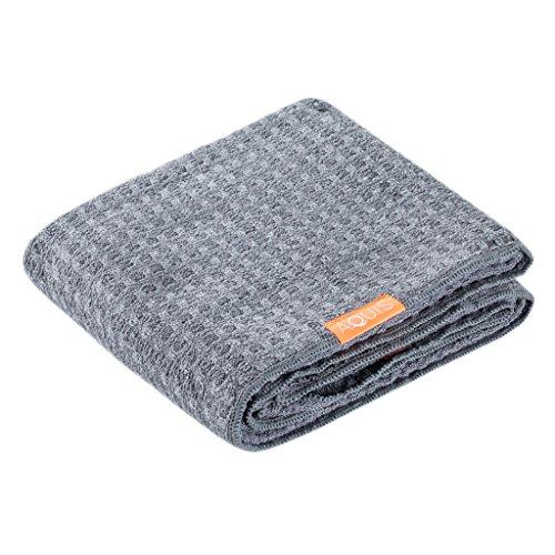 Aquis - Waffle Luxe Haartrockentuch, hoch saugfähiges und schnell trocknendes Handtuch aus Mikrofaserstoff für alle Haartypen, grau (48,3x 106,7cm)