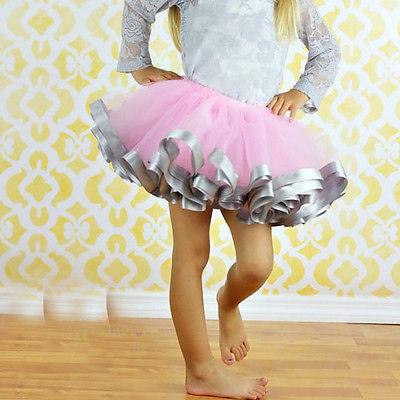 Kinder Mädchen Tütü Tüllrock Petticoat Ballett Tutu Ballettrock Rock Dancewear