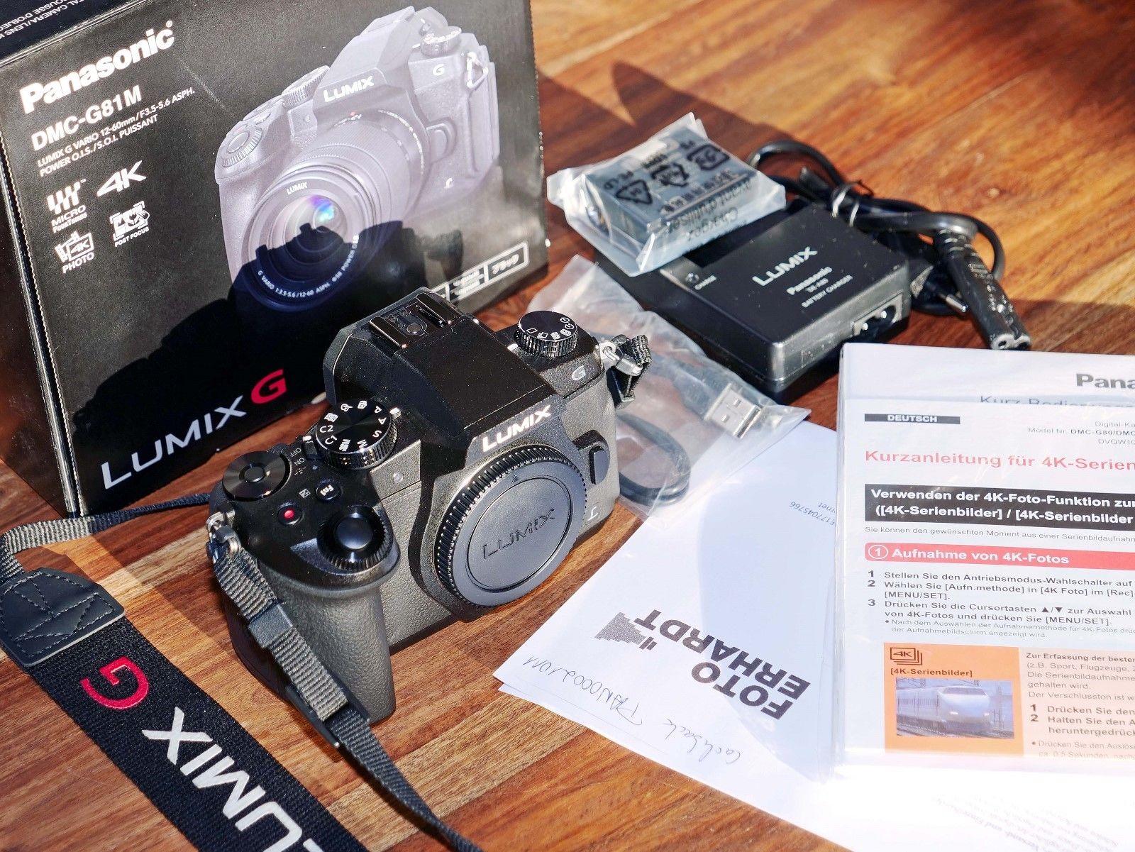 Panasonic Lumix DMC-G81 Body , 4K - keine Gebrauchsspuren -noch 10 Mon Garantie!