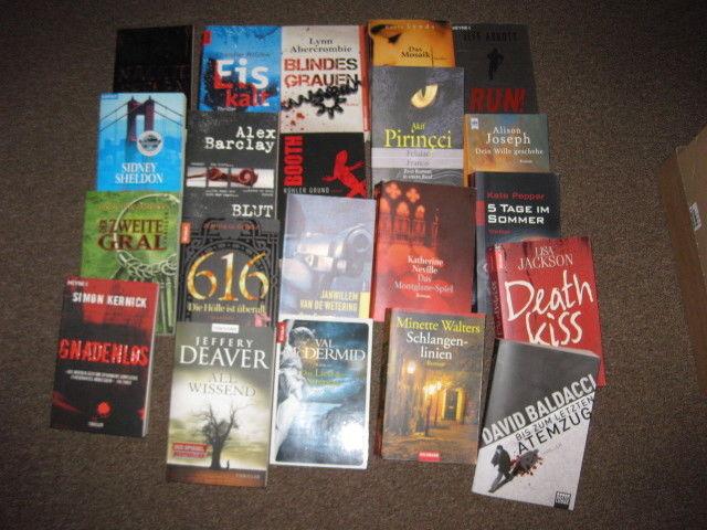 21x Krimi & Thriller Buchpaket Konvolut (Deaver, McDermid, Baldacci, etc.)