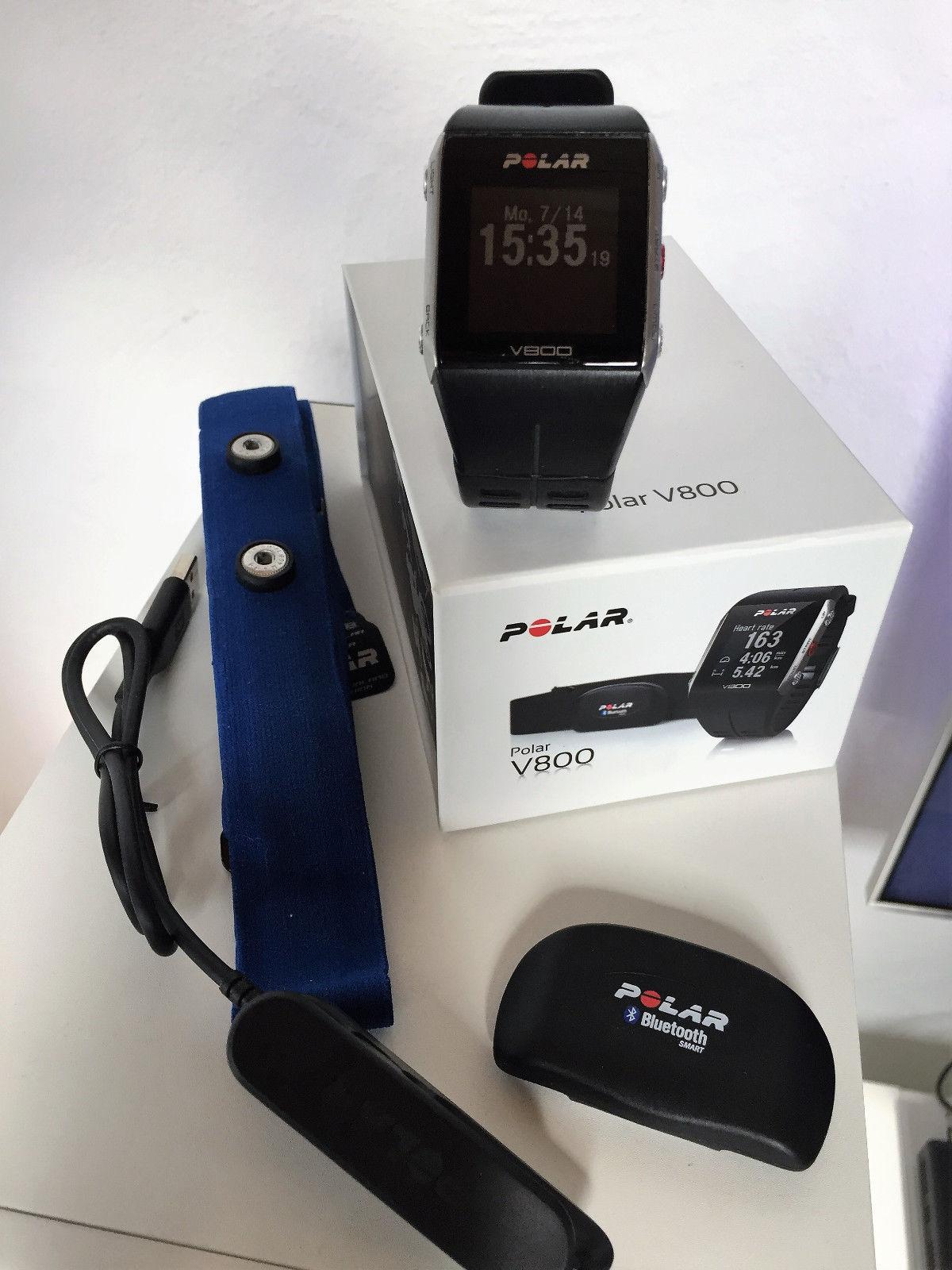 Polar V800 GPS-Pulsuhr schwarz inkl. H7 Brustgurt