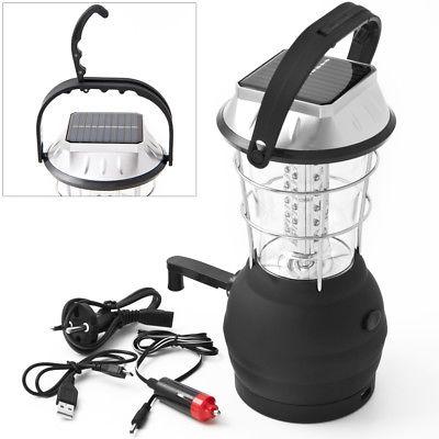 Campinglampe 36 LEDs Campingleuchte Laterne Zeltlampe Solar Lampe 30cm hoch