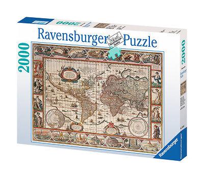 Ravensburger 16633 - Antike Weltkarte, 2000 Teile Puzzle