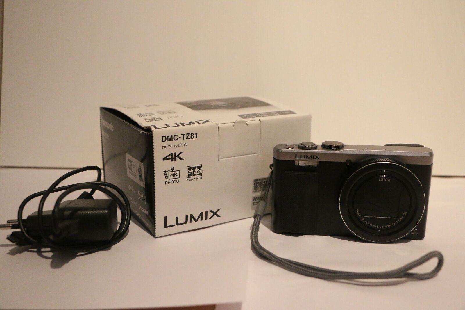 Panasonic Lumix DMC-TZ81 Silber, kaum gebraucht, WIE NEU!!!