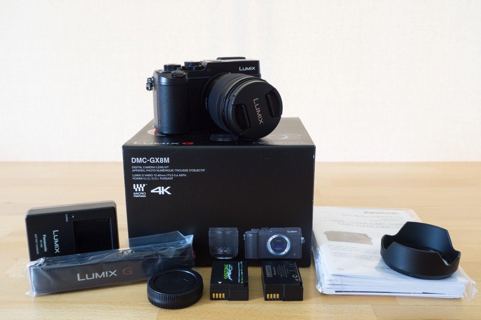Panasonic LUMIX DMC-GX8 20.3MP Digitalkamera - Kit mit 12-60mm F3.5-5.6 OIS NEUW