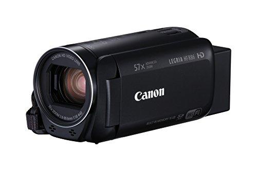 Canon LEGRIA HF R86–16GB Camcorder (Full HD, Advanced Zoom 57x, Intelligent IS, WiFi, NFC) schwarz