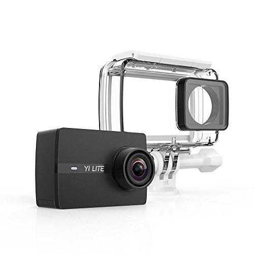 YI Lite Action-Kamera, 4K/20 fps, 1080 p/60 fps mit Ziel, Ultra-Weitwinkel, WLAN, Bluetooth, mit Gehäuse, wasserdicht–Schwarz