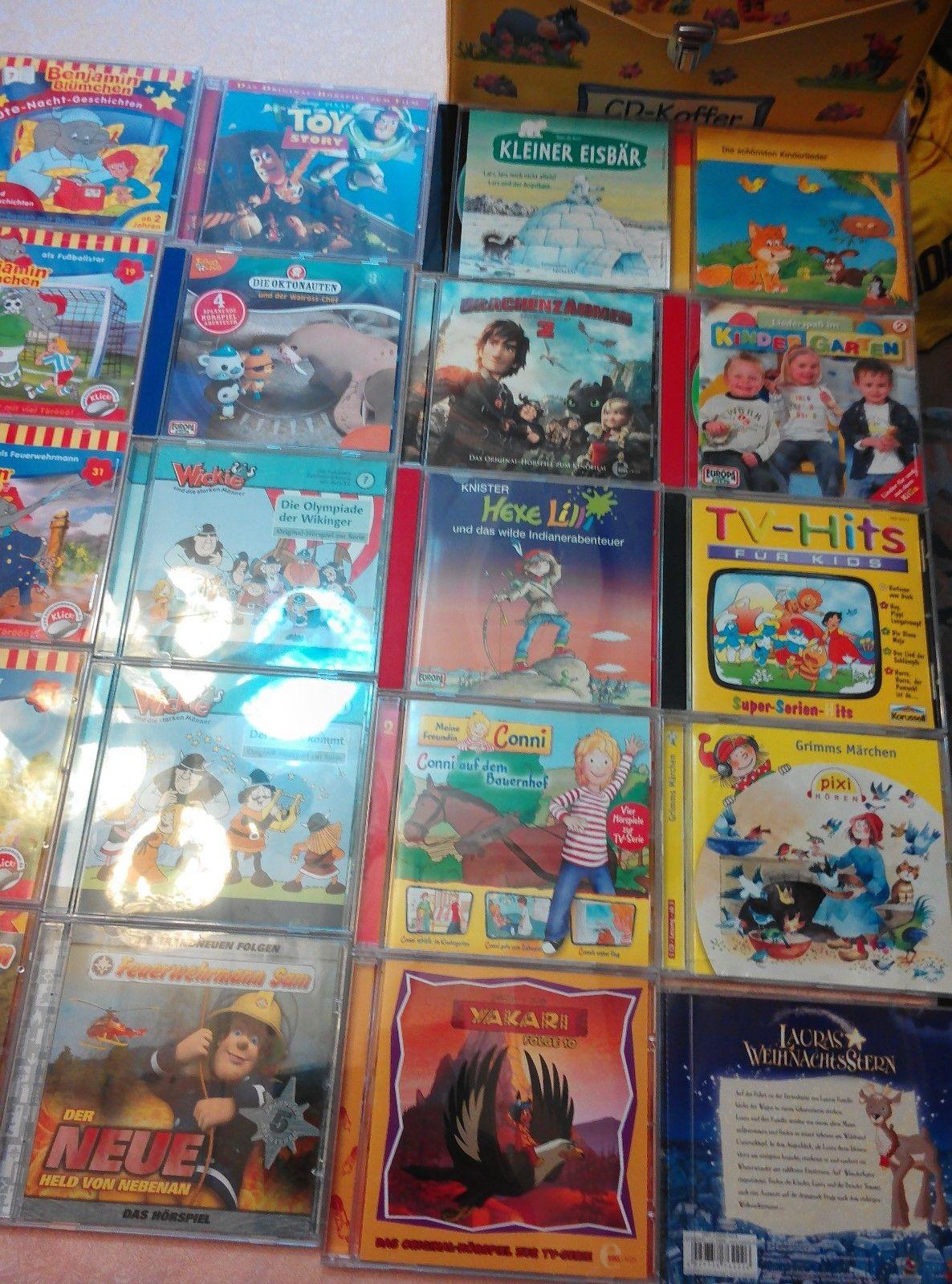 GROßE HÖRSPIELE SAMMLUNG 20 STÜCK CDs KINDER Benjamin Blümchen, Wickie, Feuerweh
